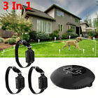 In-Ground Electric Pet Dog Fence Containment System Shock Collars for 1/2/3 Dog