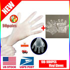 100ct Box: Clear Vinyl Gloves [Select Size: M, L, XL] NON-Latex (Exam-General)