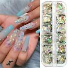 12 Grids Nail Glitter Sequins Holographic Laser Colorful Flakes Nails Art Decor