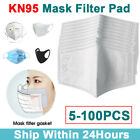 5-100pcs Filters For Mask Insert Replaceable Adult Anti Haze Mouth Filter Pads