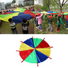 13ft 4 Colors Kid Parachute with 8 Handles Outdoor Games Activities Toys