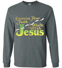 Mens Long Sleeve Jesus Christian T-shirt Clothing Apparel Gifts