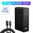 Baseus 120W USB+Type-C Wall Charger GaN Laptop Phone Adapter for Switch MacBook