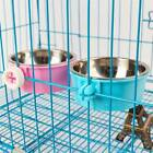 Stainless Steel Pet Dog Cat Rabbit Feeding Fixed Bowl Cage Food Water Feeder JD