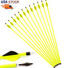 """Archery Carbon Hunting Target Arrows 30"""" Spine 500 Recurve & Compound Bows US"""