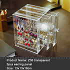 Earrings Jewelry Storage Box Case Tray Necklace Ring Display Holder Organizer