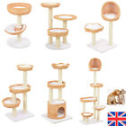 Cat Tree with Sisal Scratching Post Natural Willow Wood baskets Kitty Tower Pets