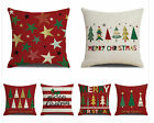 "Merry Christmas Throw pillow covers 18x18"", sofa red pillowcase (Christmas tree)"
