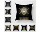 Christmas throw pillow covers, black sofa cushion,New year decoration 18x18inch