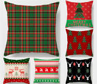 18x18in Christmas Throw Pillows Covers w/Invisible Zipper for Bed Sofa Cushion