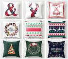 Christmas green throw pillow covers, elk pattern printed sofa cushion cover 18in