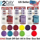 DND Gel Polish Duo Soak Off Gel  Matching Nail Lacquer Set LED/UV .5 oz 15 ml