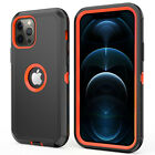 For iPhone 11/12 Pro Max Shockproof Defender Case With Stand Belt Clip Holster