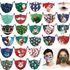 Christmas Cotton Face Mask Protective Layered Cover Washable Reusable Breathable