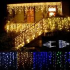 LED Curtain Icicle String Light Fairy 110 V Christmas Garland Outdoor Decorative