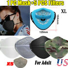 US Separate Mouth Nose Face Mask w/10 Activated Carbon Filters Washable Reusable