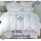 UK New 15 Tog Luxury Hotel Quality Goose Feather, Down Duvet Quality BED Sizes