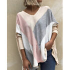 Womens Casual T Shirt Long Sleeve V Neck Tops Loose Blouse Floral Tunic