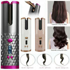 USB Rechargeable Curling Wave Rotating Tool Cordless Automatic Hair Curler Iron