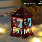 Wooden Christmas Light House Hanging LED Ornaments Home Decor Cute Holiday Gifts