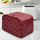 Quilted Two Slice Red Toaster Appliance Cover, Dust and Fingerprint Protection