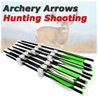 12x Archery Hunting Aluminum Shaft Arrows Outdoor Target Tips Shooting Practice