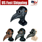 Steampunk Plague Doctor Masks Halloween Costume Bird Long Mouth Beak PU Latex US