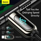 Baseus 5A USB to Type-C Charger Cable Fast Charge Voltage LED Display Data Cord