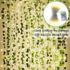 Fake Ivy Leaves with Lights, Set of 12 Artificial Greenery vines for room decor