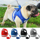 Small Dog Puppy Pet Harness Breathable Mesh And Leash Set Vest Chest Strap XS-XL