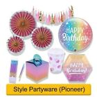 RAINBOW OMBRE- Happy Birthday - Party Supplies Decorations