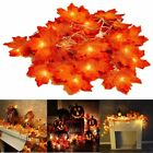 Thanksgiving Decorations Garland LED String Lights 10/20/30/40 LEDS Maple Leaf