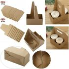 10Pcs Disposable Folding Carton Carry Tray Carrier Tote Bag for Takeaway Coffee