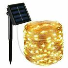LED Solar String Light Lights Waterproof Copper Wire Fairy Outdoor Garden PartyN