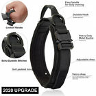 Tactical K9 Dog Training Collar Leash with Metal Buckle for L Dog Heavy Duty