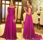 Fuchsia Elegant Mother Of The Bride Dresses 2020 Draped Evening Prom Party Dress