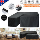 ■ L Shape Outdoor Furniture Cover Waterproof Sofa Lounge Seat Couch Cover Garden