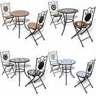 Mosaic Garden Bistro Chairs & Set Table Home Furniture Outdoor Patio Dining 2020