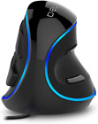 DELUX Wired Ergonomic Vertical Mouse, Large RGB Ergonomic Computer Mouse with 6