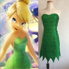 Pixie Fairy Cosplay Costume Tinker Bell Green Dress Halloween Party Sexy Dress