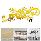 Diy Mural Removable Mirror Flower Art Wall Sticker For Home Office Decoration