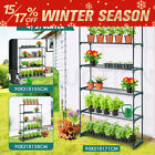 2x 4/5/6 Tier Plant Shelves Greenhouse Plant Stand Outdoor Garden Metal Shelving