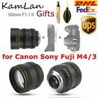 DHL KamLan 50mm F1.1 II APS-C Large Aperture Manual Focus Lens fr Mirrorless Cam