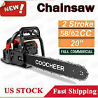COOCHEER 62CC 20 Gas Chainsaw Handed Petrol Chain Woodcutting 2 Cycle 4HP B 153