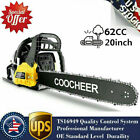 COOCHEER 62CC 20 Gas Chainsaw Handed Petrol Chain Woodcutting 2 Cycle 4HP B 154