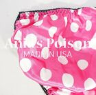 Sissy Satin Panties Polka Dot high gloss MENS Smooth Silky FULL Bikini S- 2XL