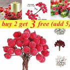 Red Artificial Berries 40-160pc On Wire,Christmas Decoration, Art And Craft Gift