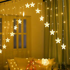LED Xmas Star Shaped String Lights Wedding Christmas Curtain Light Decor UK