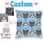 Custom Face Pillow Case Dog Cat Photo Cushion Cover Personalised Owner Xmas Gift