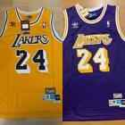 MEN'S/YOUTH Kobe Bryant #24 Los Angeles Lakers Throwback GOLD/PURPLE Sewn Jersey